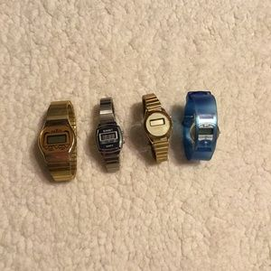 Lot of 4 vintage digital watches